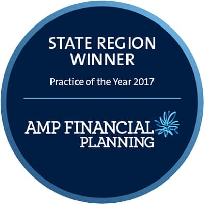 AMP Financial Planning Practice of the Year State Region Winner Logo - Blueprint Wealth Perth